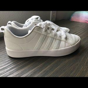 Women's white adidas